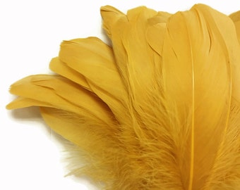 OIE, 1/4 livre - Antique Gold Nagoire gros plumes d'oie (en vrac): 4184