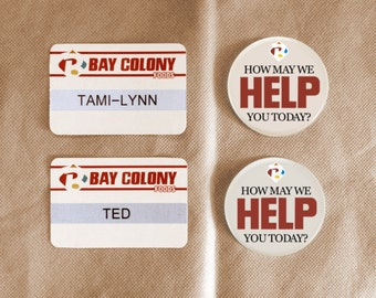 Ted Employee Badges, Printables, Digital Download