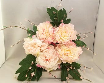 Light Pink Peony Wreath