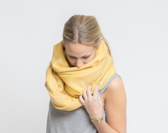 merino scarf - senf