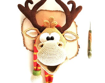 deer trophy - a crochet pattern by mala designs