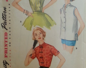 Simplicity #1642 - Junior Misses and Misses Blouse - Size 14, Bust 32 - Vintage - Sewing Pattern
