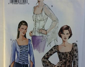 Vogue 7905 Misses' Flared Sleeved Tops sewing pattern size 6 8 10 UC Uncut FF