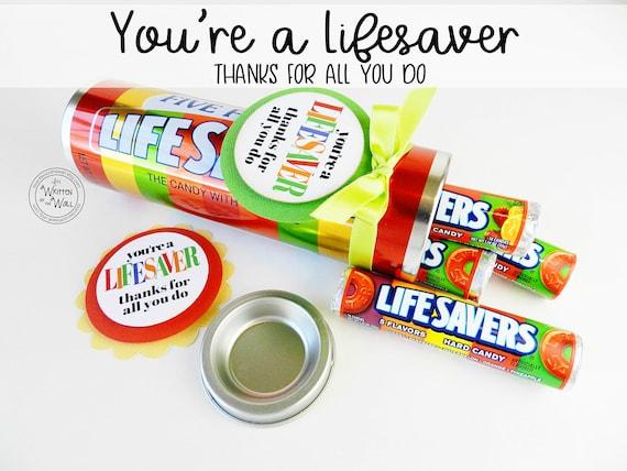 You're a Lifesaver Treat Tag / Thank you gift / Teacher