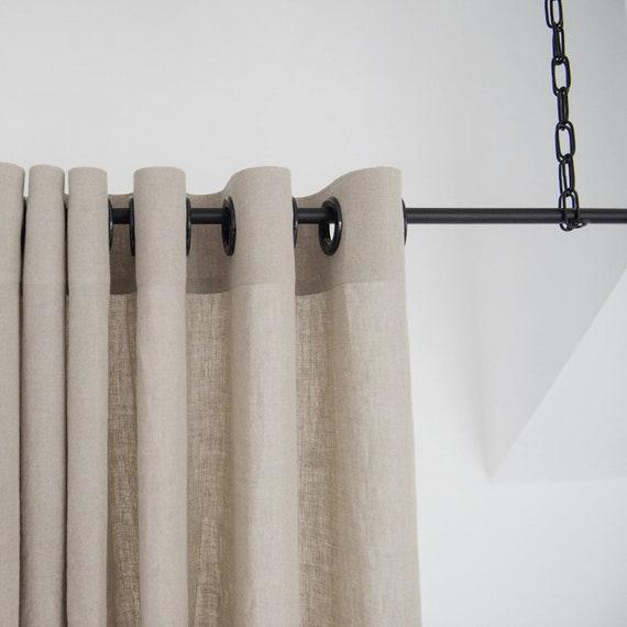 Blackout Linen Curtains With Grommets 16 Colors Grommet