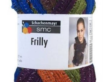 wool SMC 100gr orange green blue plum 091 //16 FRILLY ruffles