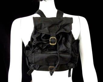 VINTAGE: SMALL Genuine Leather Backpack - Mini Bag - Leather Bag - SKU 00009022
