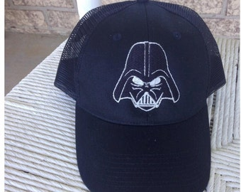 Star Wars Darth Vader hat with May the force be with you On the back