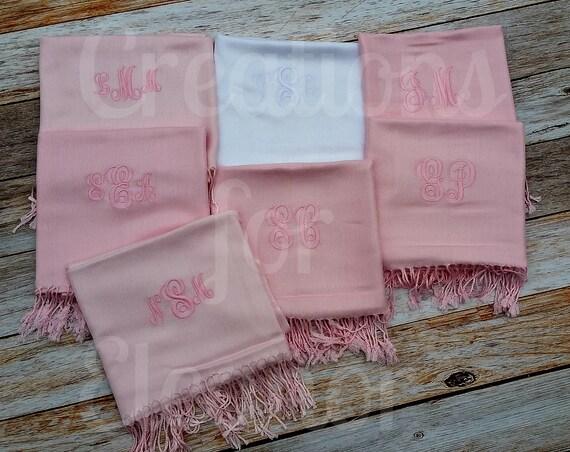 monogrammed pashmina monogrammed shawl monogrammed wrap