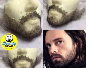 Bucky's facial lace hair