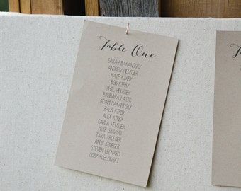 Wedding Table Assignments//Template