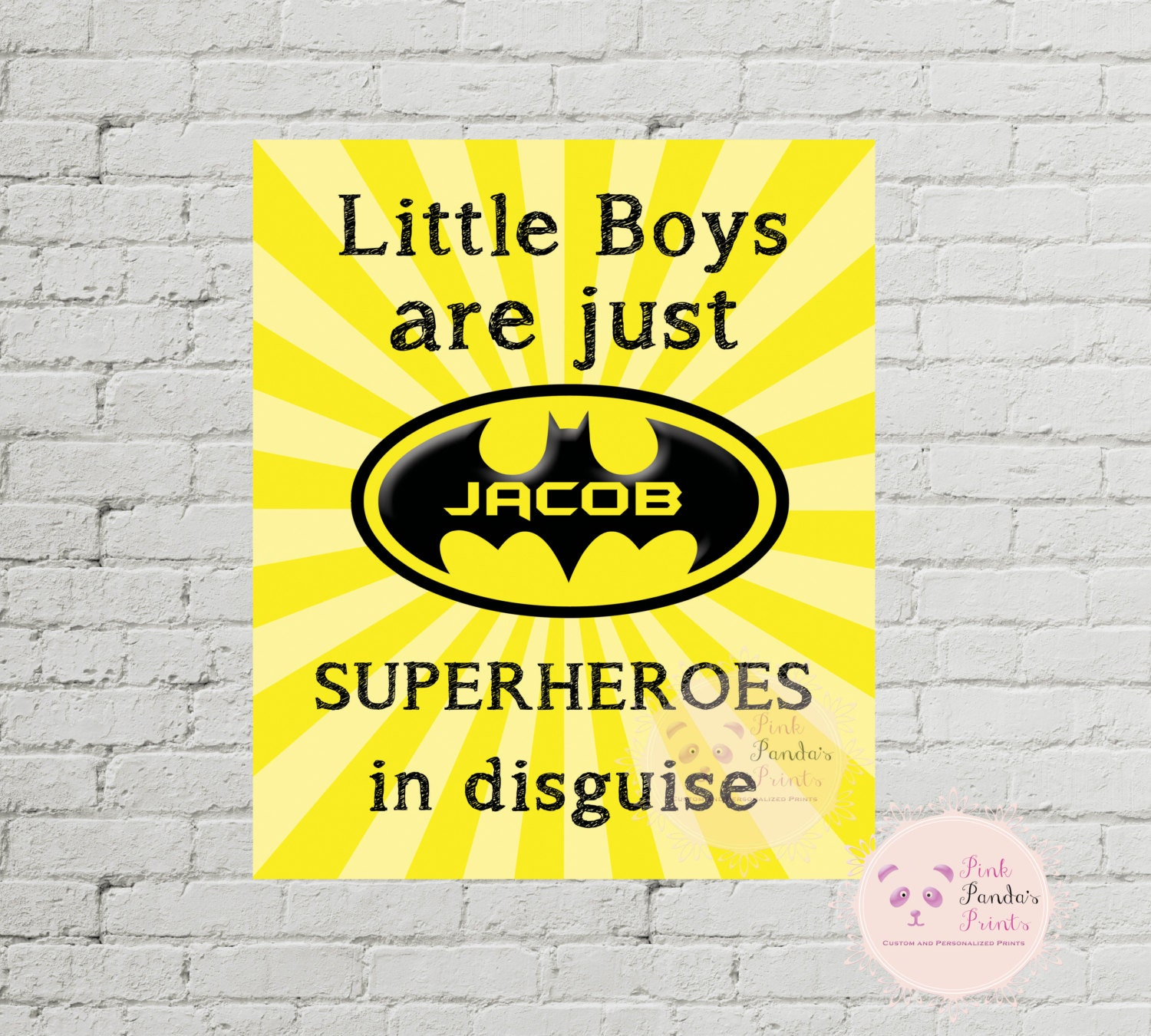 little boys are just superheroes in disguise batman