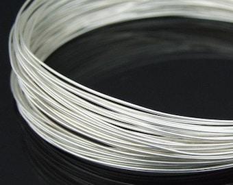 KA-098S thai karen hill tribe handpull silver round wire 10ft. 22gauge dead soft