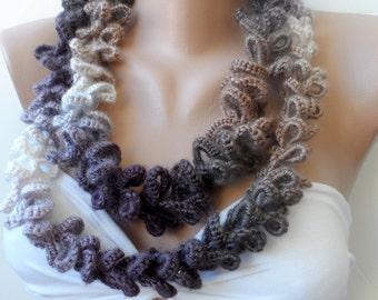 Handmade infinity scarf ,Scarf, crochet loop scarf,soft - Circle scarf, crochet scarf, women scarfs, elegancescarf,fashion