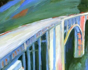 Bridge Painting / Big Sur/ Bixby Bridge 8x10 Print of Original Oil Painting/ California Bridge
