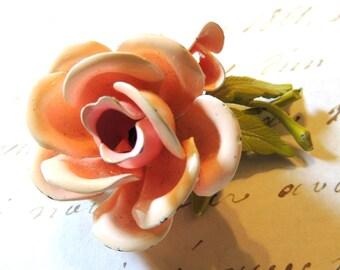Vintage Rose Brooch Pin Pink Flower Vintage Jewelry