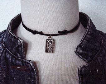Alternative Grunge Mixed Tape Charm Necklace