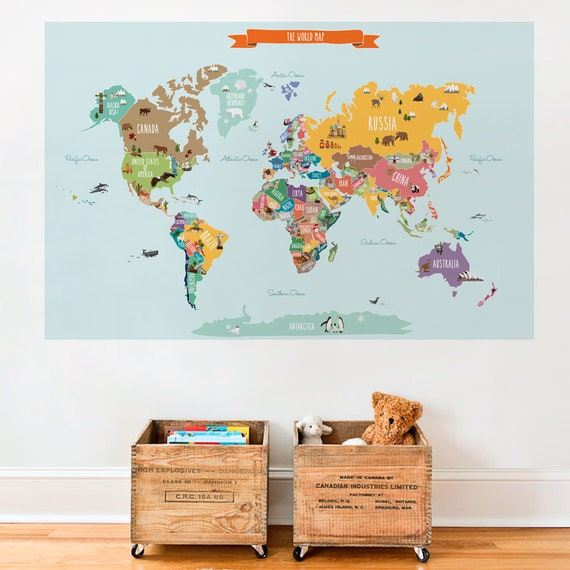 World map decal countries of the world map kids country gumiabroncs Images