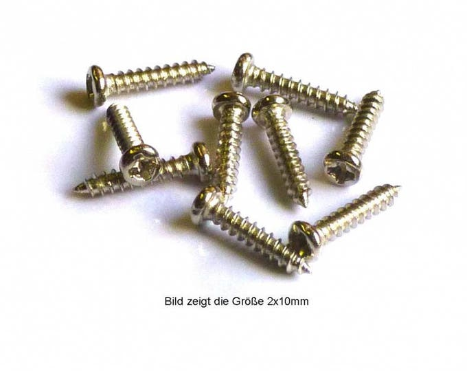 Screw with countersunk head 1 x 3 mm, steel nickel-plated, Ms 798213 for the doll room, Dollhouse miniatures, cribs, miniatures, model making