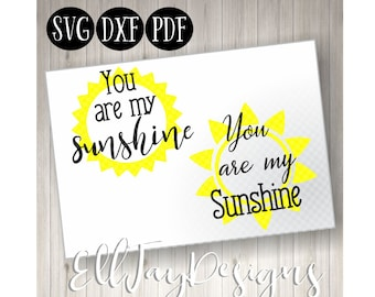 You are my sunshine svg, you are my sunshine wall art, you are my sunshine cut files, silhouette cricut cut files, commercial free svg, cut
