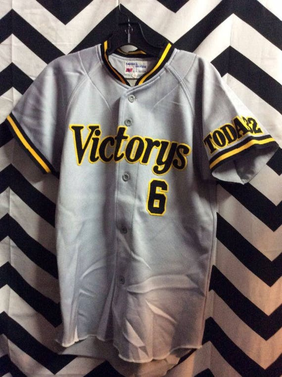 Vintage RARE Cotton Baseball Jersey - Cotton - Japanese - Redsters #9 Japan 2BR3b0ccy