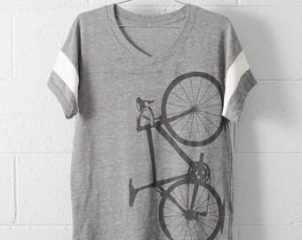 Women's Road Bike Medium Sport V-Neck Shirt-s/s