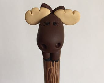 Polymer Clay Moose Ballpoint Pen