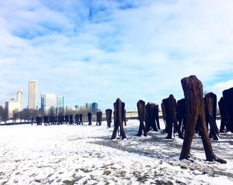 Agora Chicago, Agora Sculpture, Headless, Armless, Art of Chicago, Agora in Winter, Chicago Photography, Chicago Wall Art, Chicago Prints