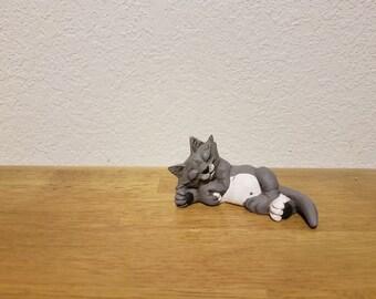 Ceramic Cat with attitude Sleeping (#878)