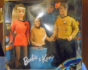 Mattel Barbie and Ken Star Trek vintage New in box