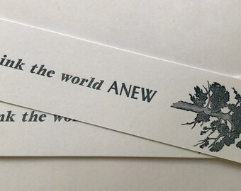 Think the world ANEW - Bookmark
