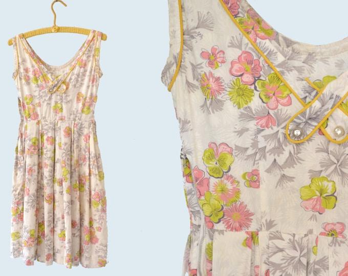1950s Cotton Dress size XXS