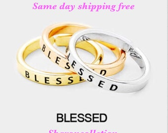 BLESSD- inspired ring ( only one ring chose primary color)
