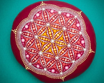 Sacred Mandala Stone 'Dawn of Life'