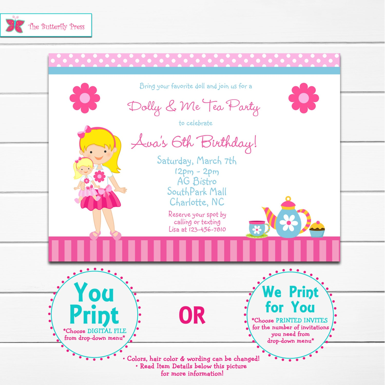 Pink Credit Card Invitations Mall party invitation examples