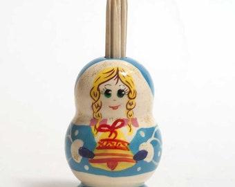 Toothpick Holder Snowmaiden