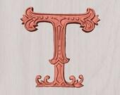 Wooden Letter T ~  6&quot...