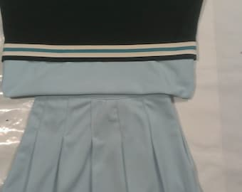 Light Blue Cheerleader Uniform Dance Halloween Costume Adult