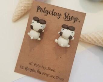 Sleepy Doy Errings,Polyclay Erring, Polymer Clay