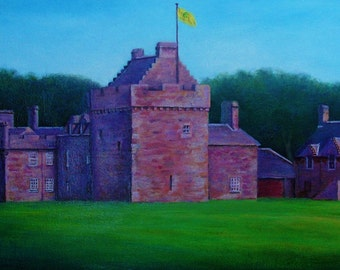 Hunterston Castle summer time, Canvas print