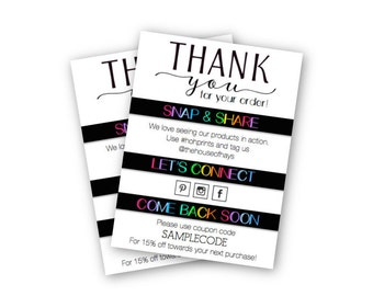 Premium Etsy Shop Thank You For Your Order Insert Cards | Packaging | Shipping | 3x4 Inches