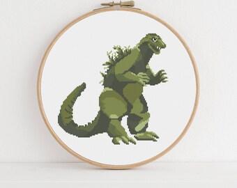 Godzilla Counted Cross Stitch Pattern: Digital Download