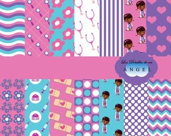 Digital paper kit party toys Dr / Party Digital Paper Kit Doc McStuffins