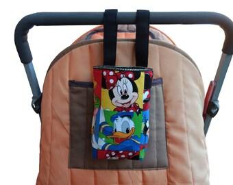 Baby Bottle holder - Water Bottle Holder for bike, cot, scooter & pram/stroller - Mickey Mouse - Disney Themed