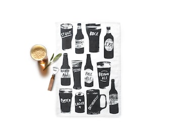Beer towel -  100% organic cotton