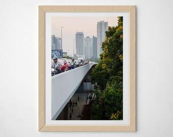 Bangkok, Thailand, Photography, Print, rush hour, bridge, sunset, fine art print, 5x7, 8x10, 11x14, 12x16 RIBBA, 16x20, 20x24, custom size