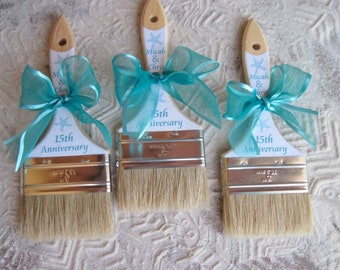 Beach Paint Brush - Sand Paint Brush -  Brush the Sand from your Toes - Favor Promotional Item - Wedding Brushes