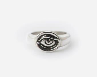 Lover's Eye Sterling Silver Ring