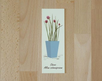 Chives Bookmark, Herbs, Bookmark, Book Lover Gift, Gardener Gift, Unique Bookmark, Chives, Gift for Him, Gift for Her, Birthday Gift, Gift