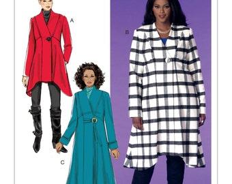 McCall's Pattern M7485 Women's Seamed, Shaped-Hem Coats